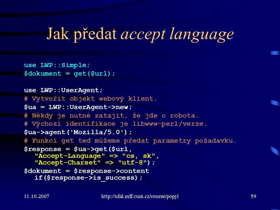 Jak předat accept language