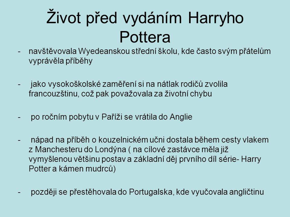 Život před vydáním Harryho Pottera