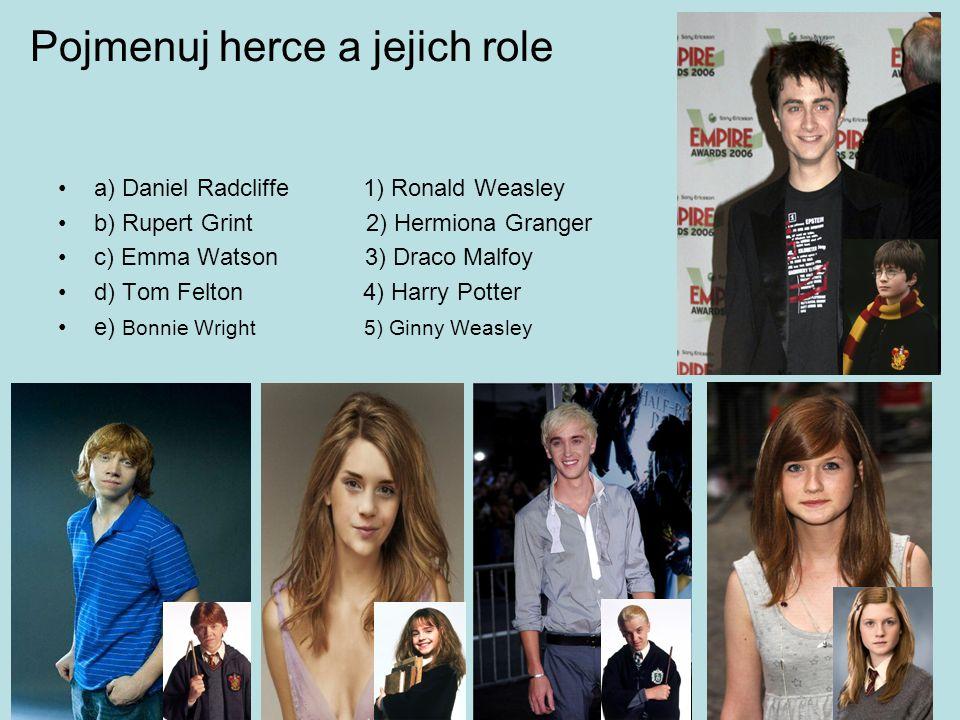 Pojmenuj herce a jejich role