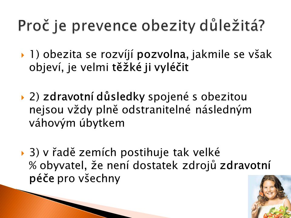 Proč je prevence obezity důležitá