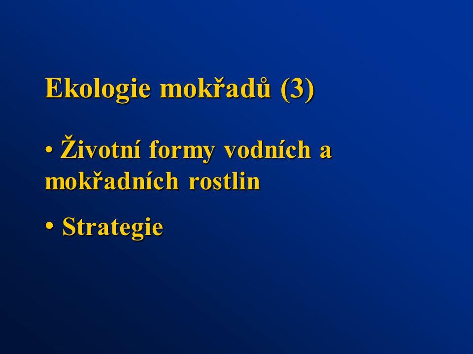 Ekologie mokřadů (3) Strategie