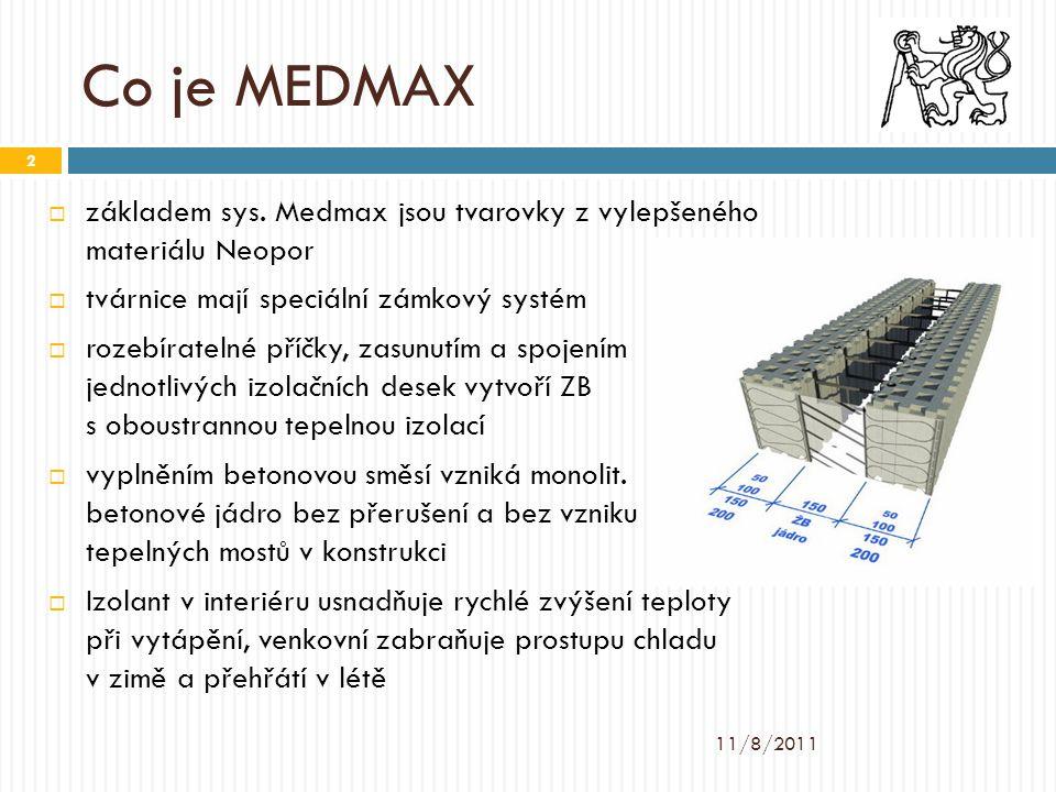 Co je MEDMAX základem sys. Medmax jsou tvarovky z vylepšeného materiálu Neopor. tvárnice mají speciální zámkový systém.