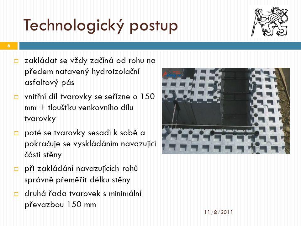 Technologický postup zakládat se vždy začíná od rohu na předem natavený hydroizolační asfaltový pás.