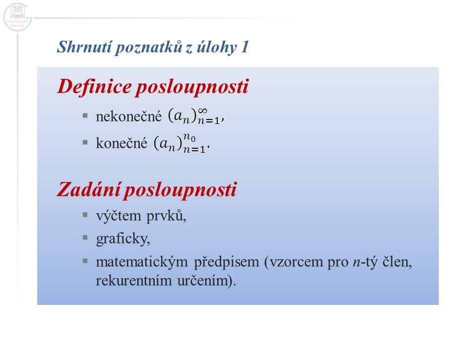 Definice posloupnosti