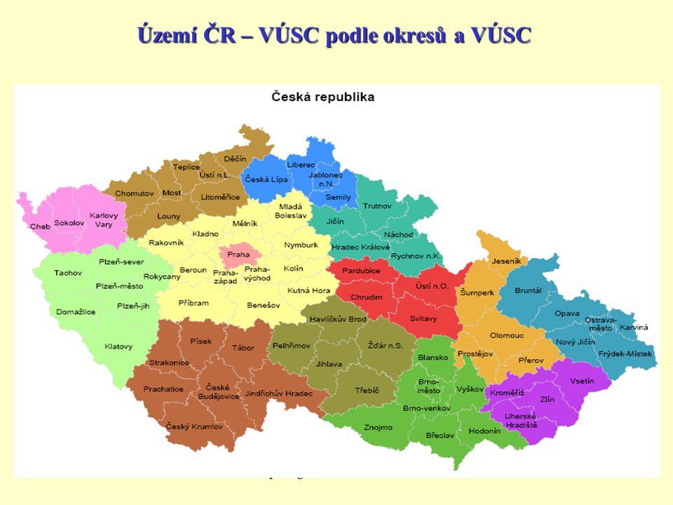 Území ČR – VÚSC podle okresů a VÚSC