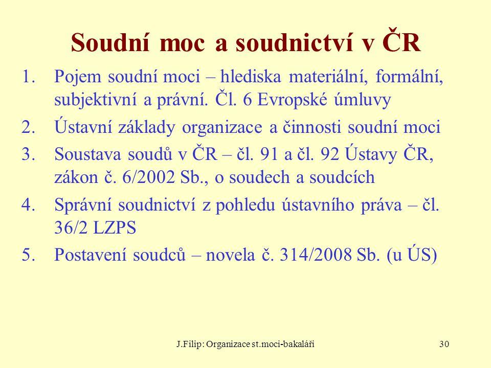 Soudní moc a soudnictví v ČR