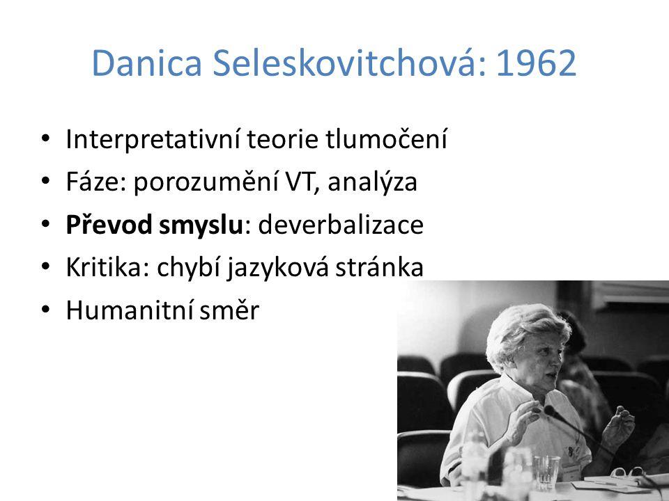 Danica Seleskovitchová: 1962