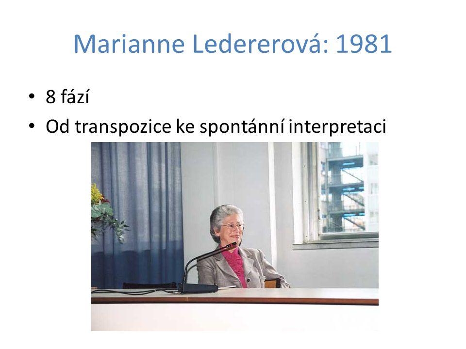 Marianne Ledererová: 1981 8 fází