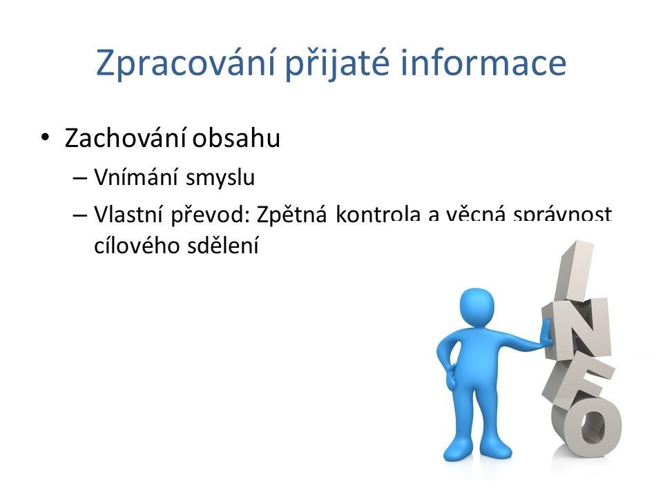 Zpracování přijaté informace