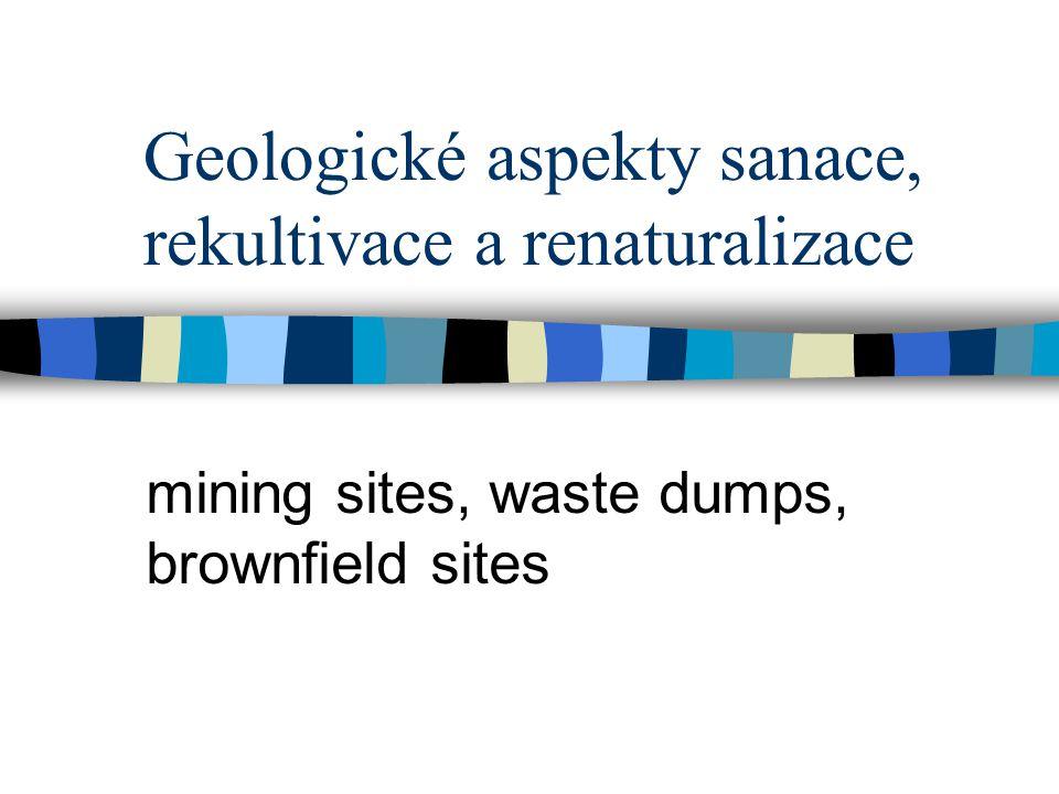 Geologické aspekty sanace, rekultivace a renaturalizace
