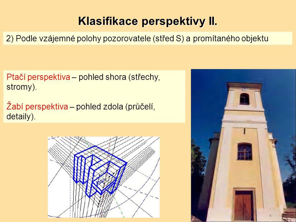 Klasifikace perspektivy II.