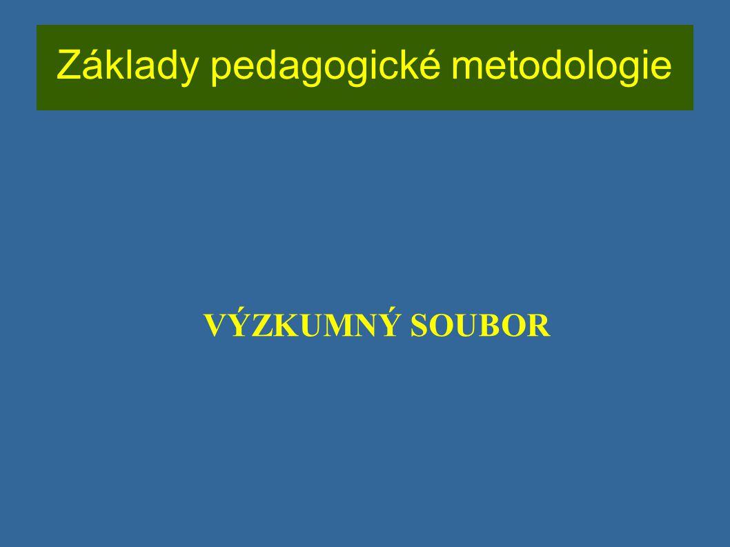Základy pedagogické metodologie