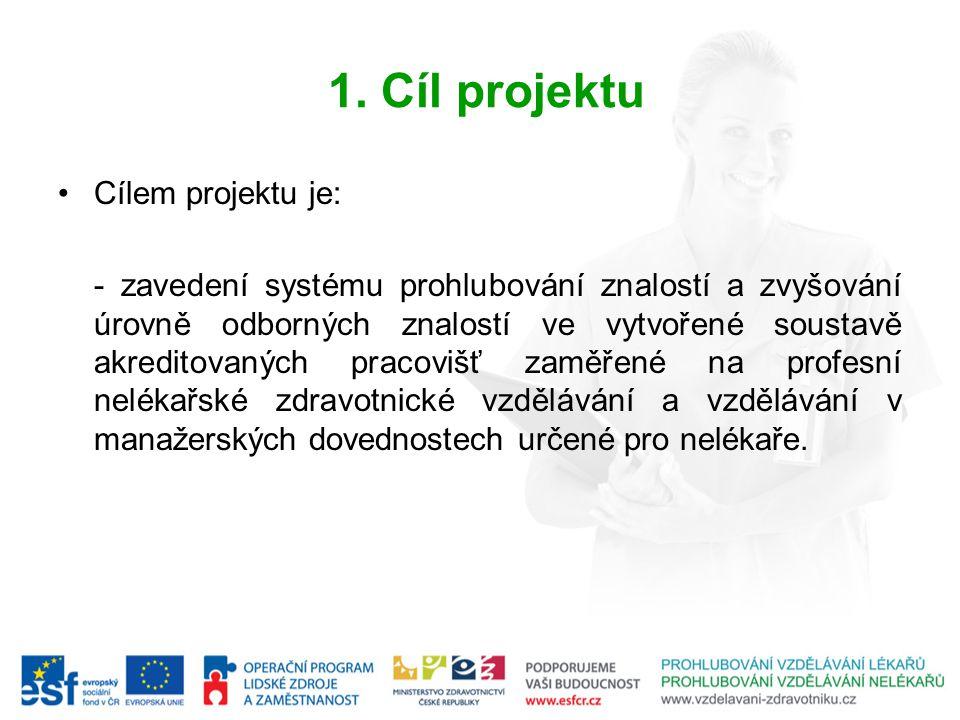 1. Cíl projektu Cílem projektu je: