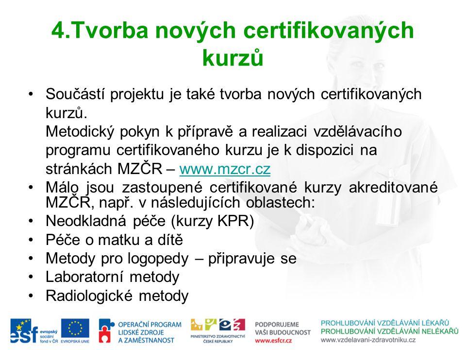 4.Tvorba nových certifikovaných kurzů