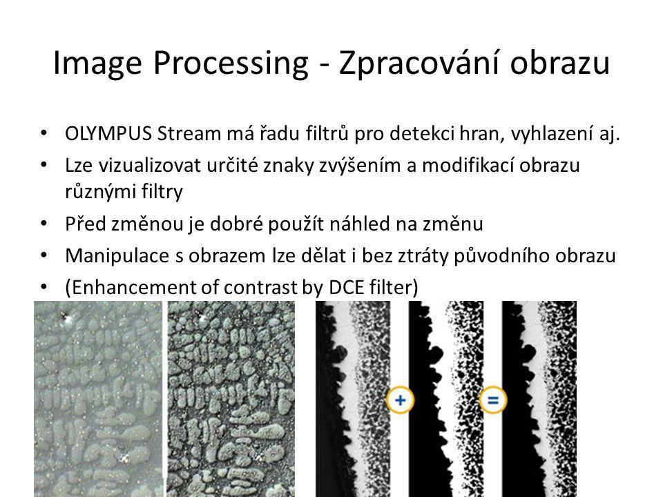 Image Processing - Zpracování obrazu