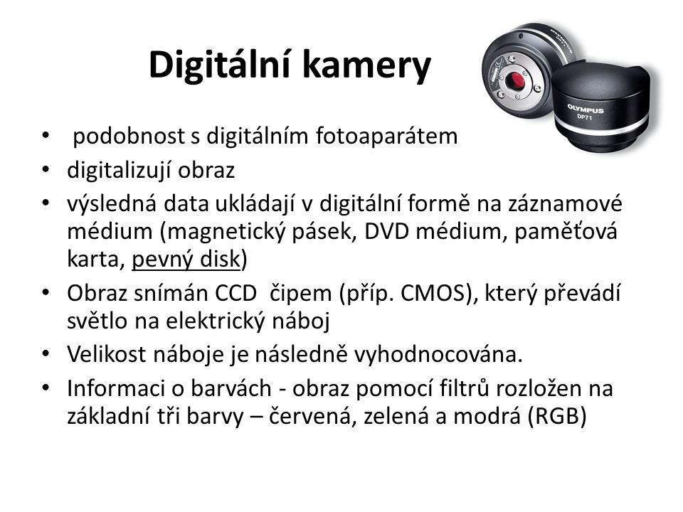Digitální kamery podobnost s digitálním fotoaparátem