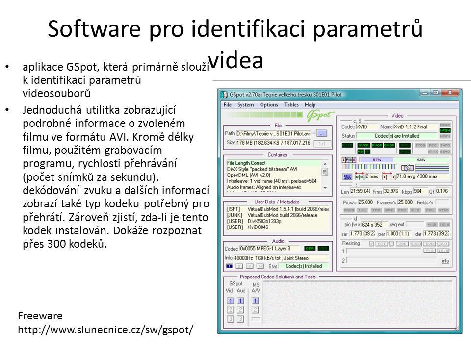 Software pro identifikaci parametrů videa