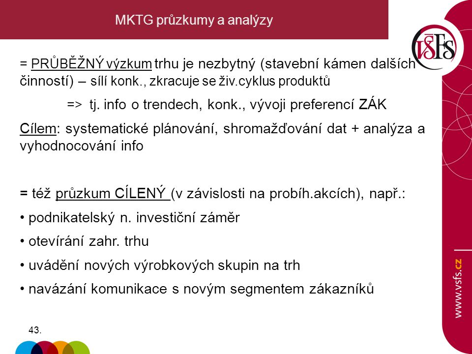 MKTG průzkumy a analýzy