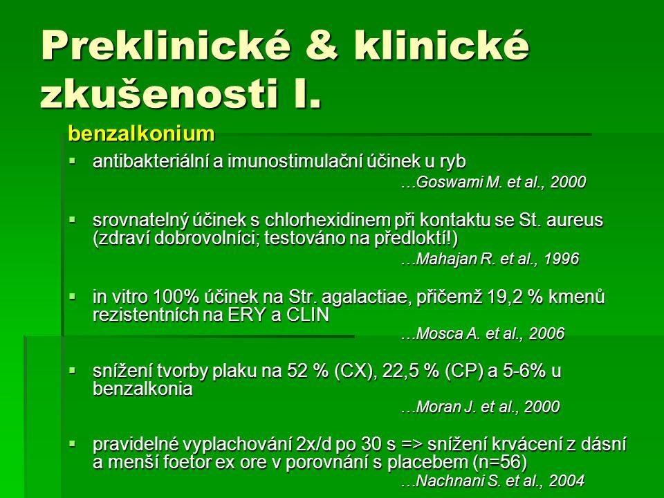 Preklinické & klinické zkušenosti I.