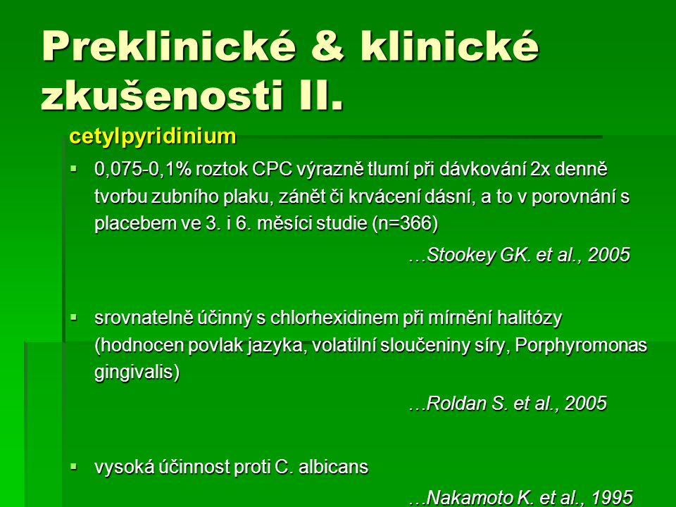 Preklinické & klinické zkušenosti II.
