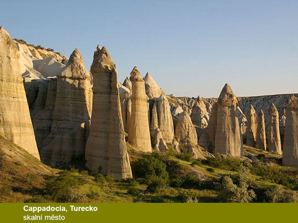Cappadocia, Turecko skalní město
