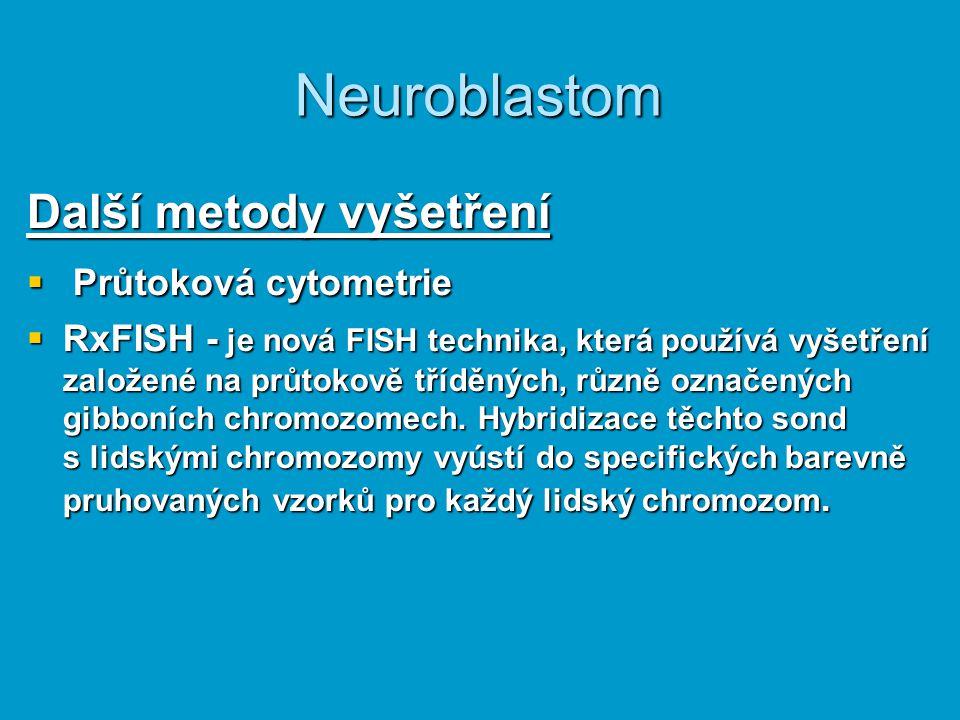 Neuroblastom Další metody vyšetření Průtoková cytometrie