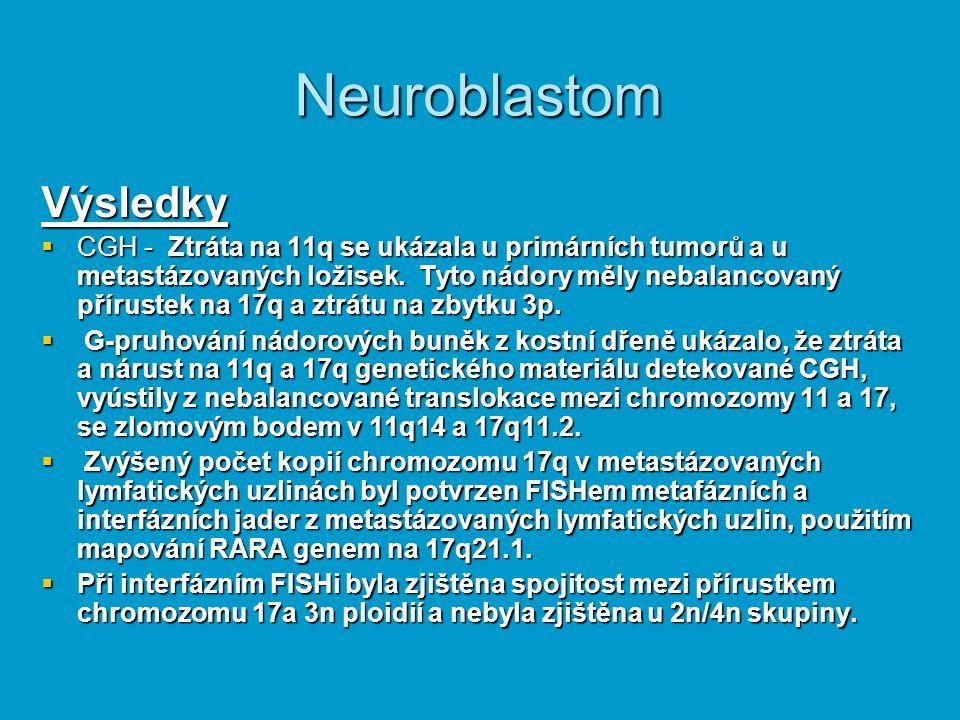 Neuroblastom Výsledky