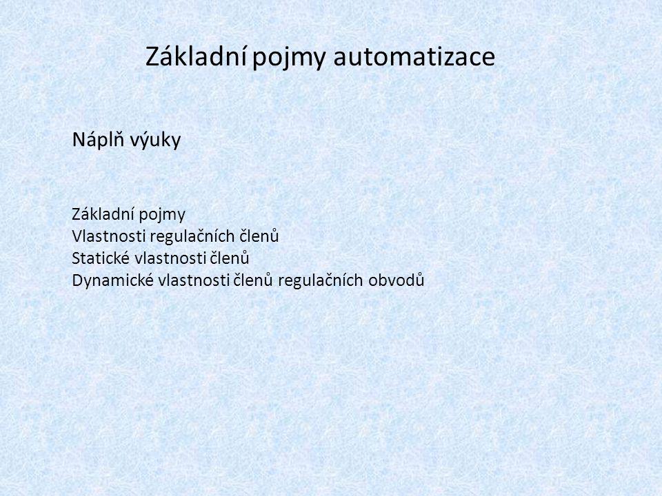 Základní pojmy automatizace