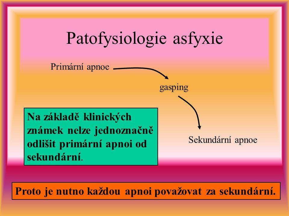 Patofysiologie asfyxie