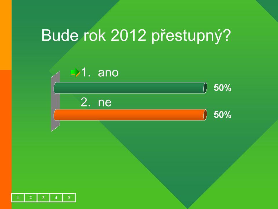Bude rok 2012 přestupný ano ne 1 2 3 4 5