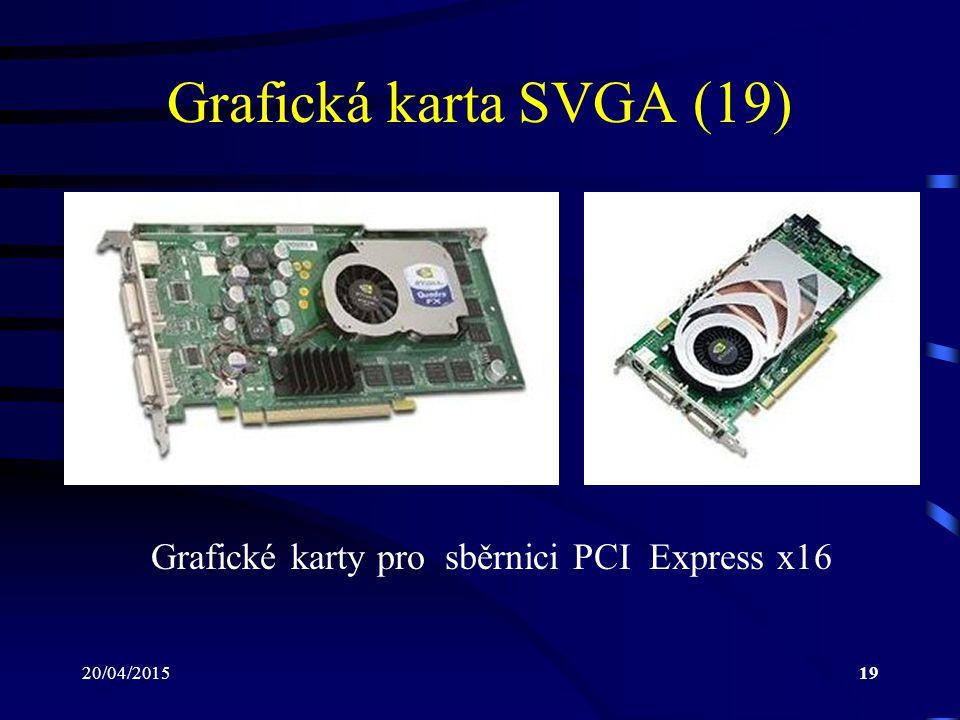 Grafické karty pro sběrnici PCI Express x16