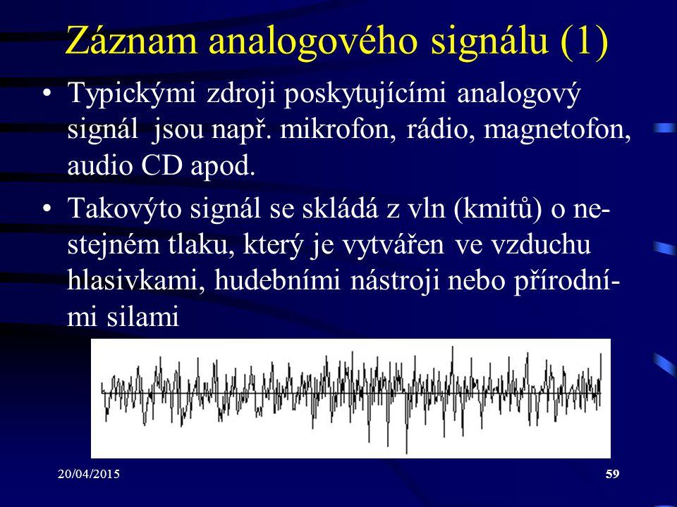 Záznam analogového signálu (1)