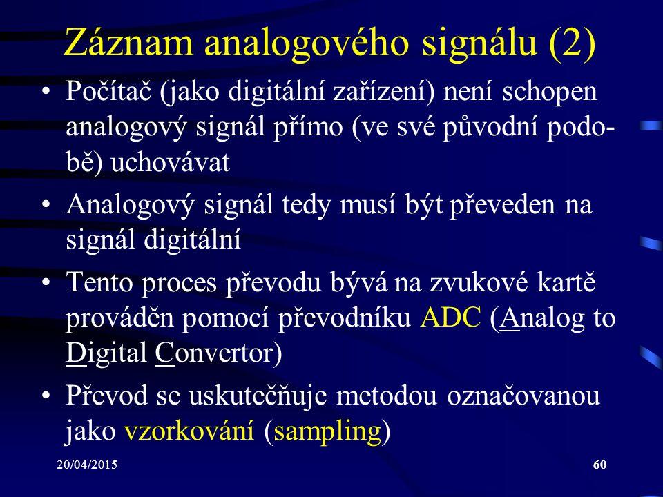 Záznam analogového signálu (2)