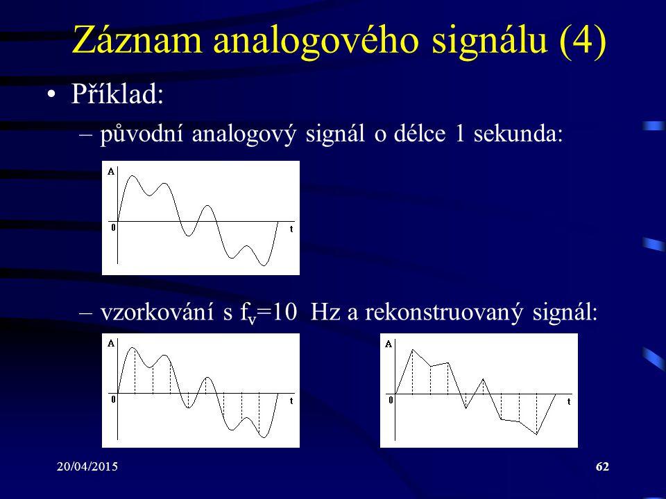 Záznam analogového signálu (4)