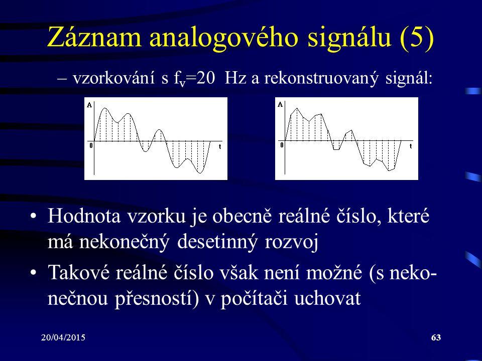 Záznam analogového signálu (5)