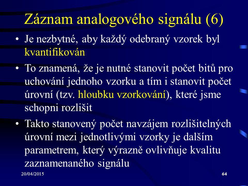 Záznam analogového signálu (6)