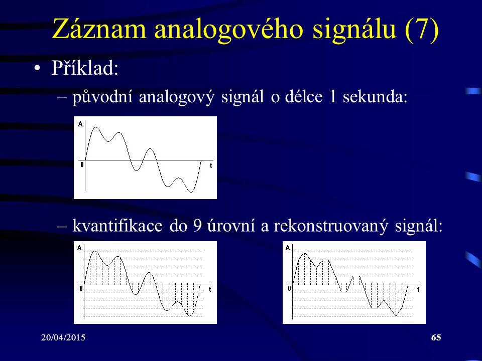 Záznam analogového signálu (7)