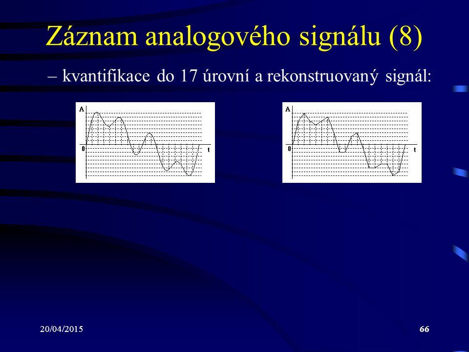 Záznam analogového signálu (8)