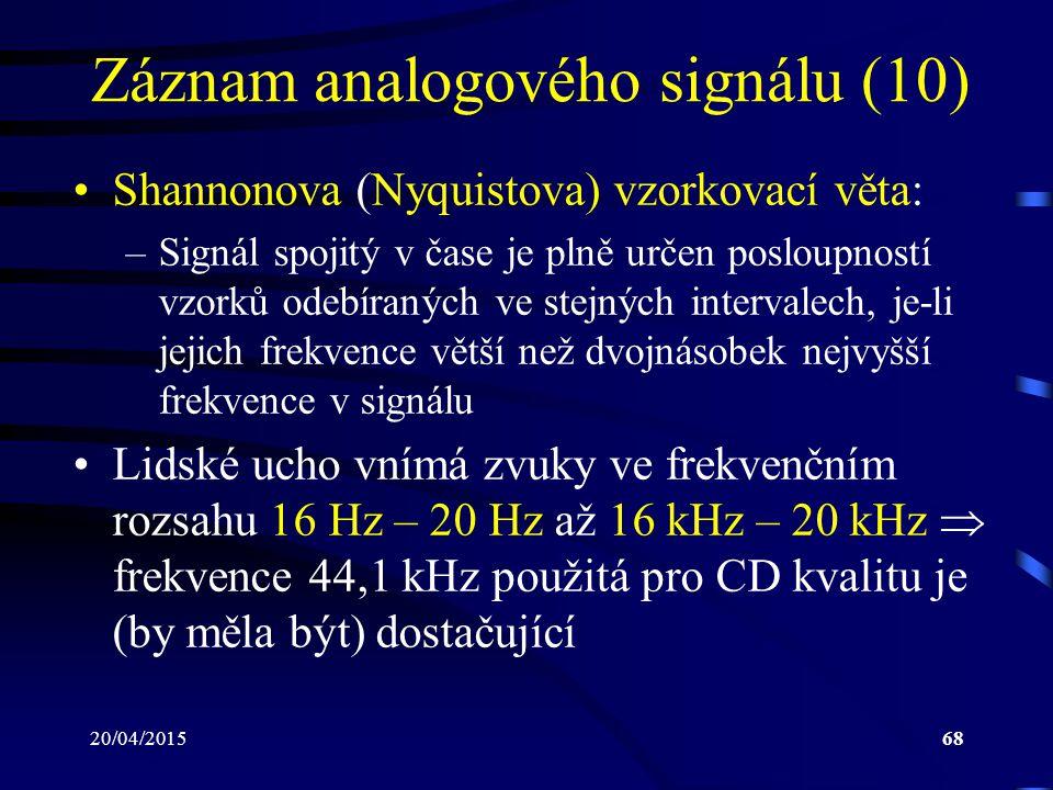 Záznam analogového signálu (10)