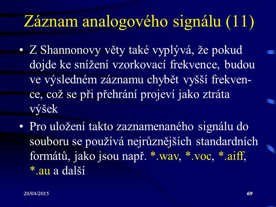 Záznam analogového signálu (11)