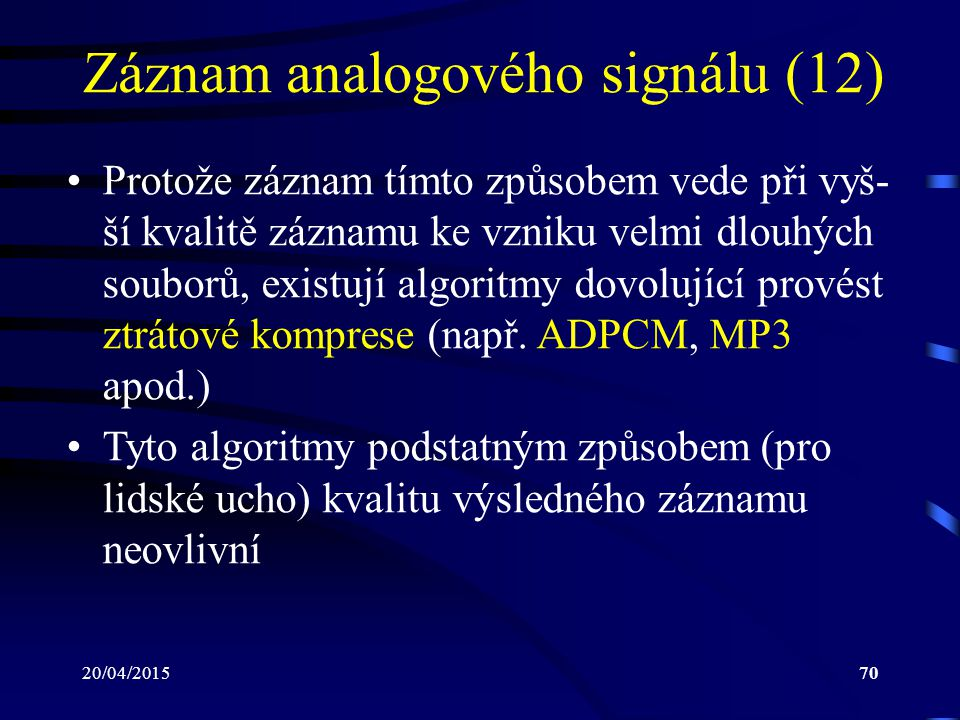 Záznam analogového signálu (12)