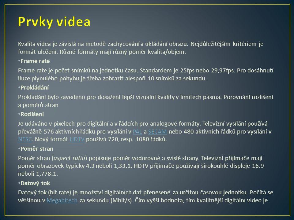 Prvky videa