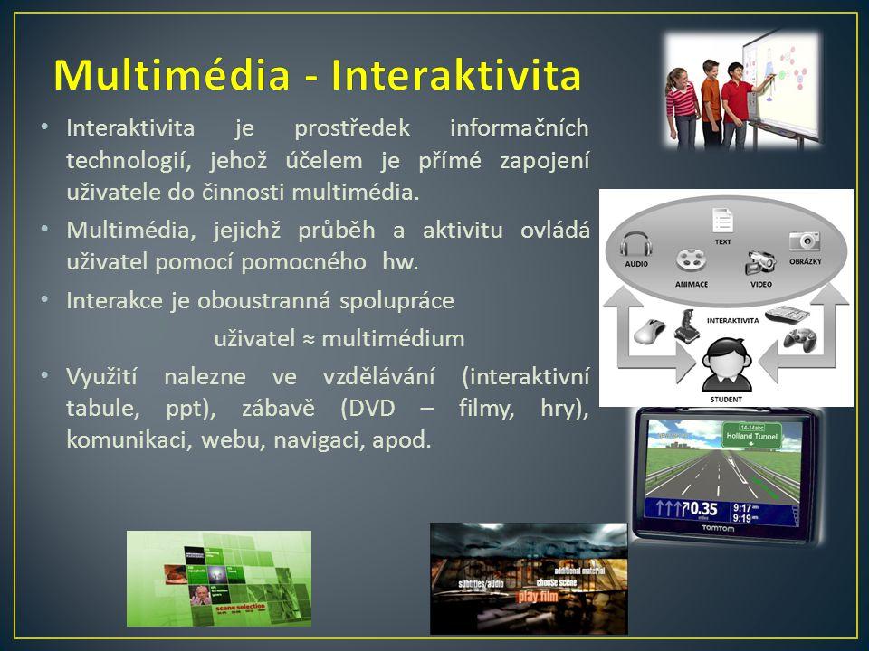 Multimédia - Interaktivita