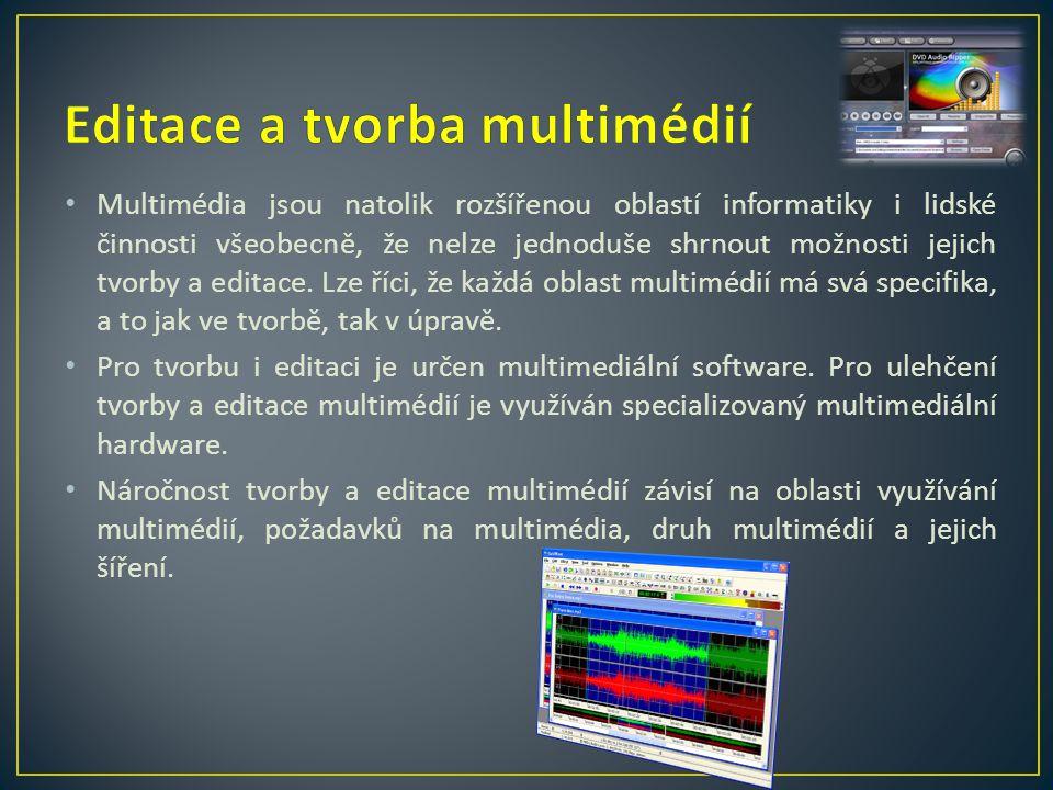 Editace a tvorba multimédií