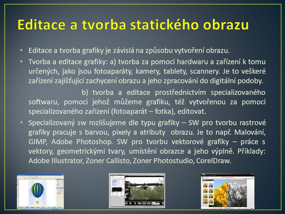 Editace a tvorba statického obrazu