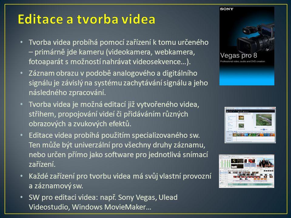 Editace a tvorba videa