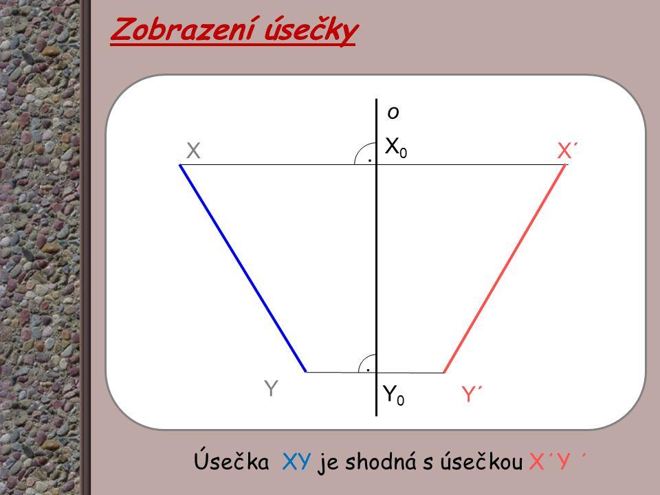 Zobrazení úsečky o X0 X X΄ . . Y Y0 Y΄