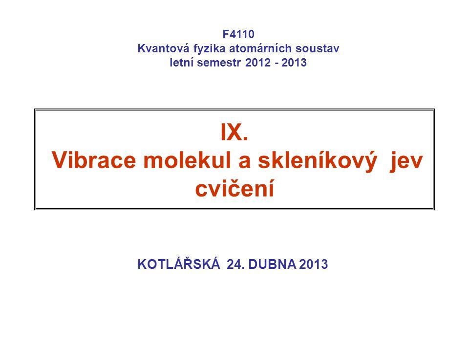 IX. Vibrace molekul a skleníkový jev cvičení