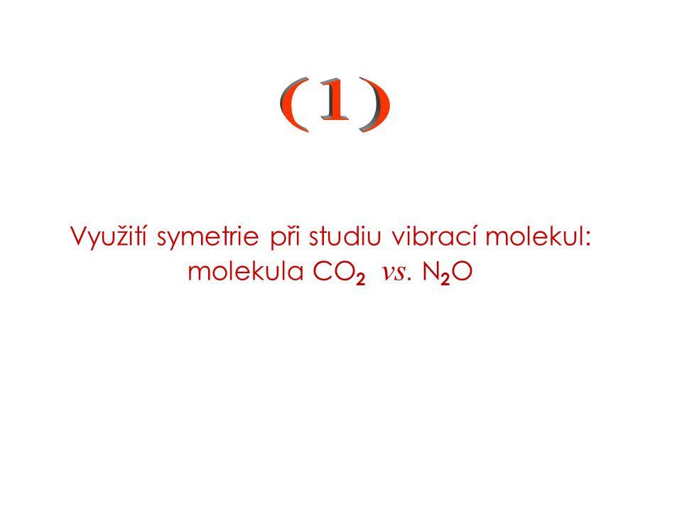 (1) Využití symetrie při studiu vibrací molekul: molekula CO2 vs.