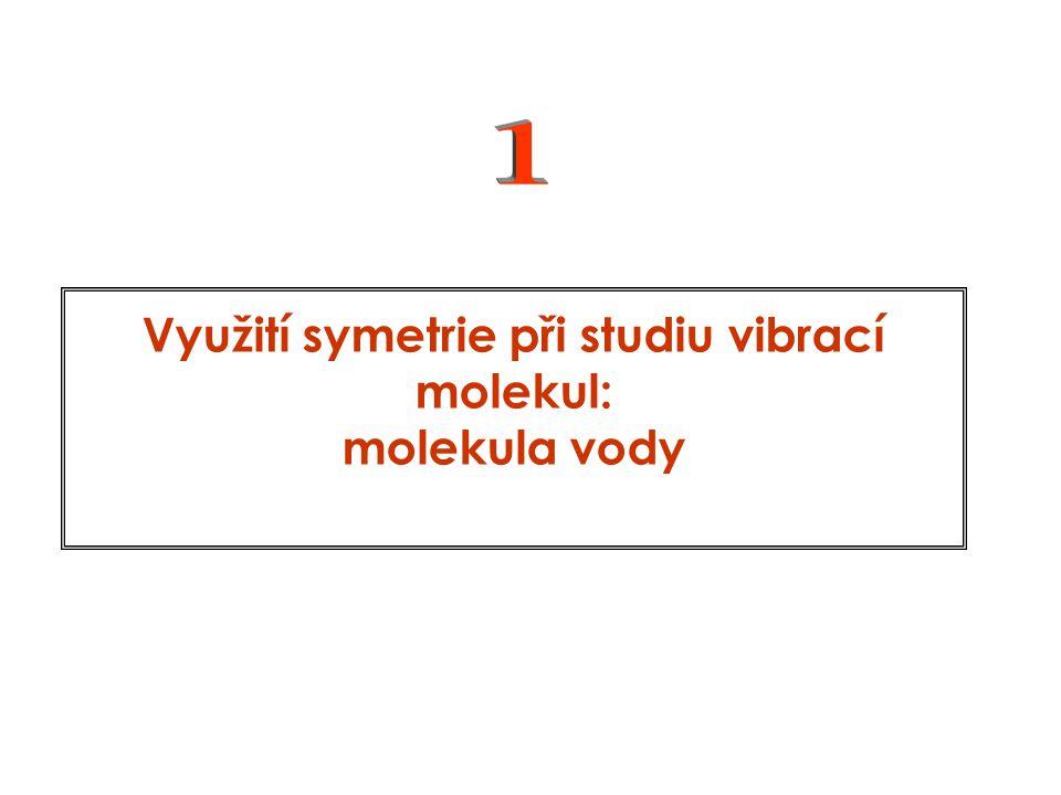 Využití symetrie při studiu vibrací molekul: molekula vody
